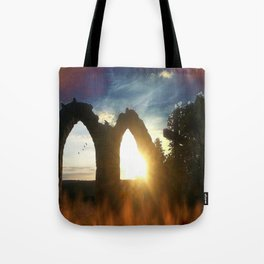 Fire at the tower Tote Bag
