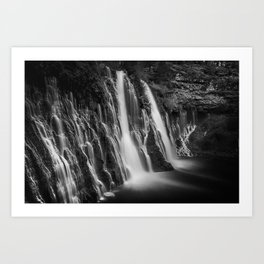 Burney Falls in Black and White Art Print