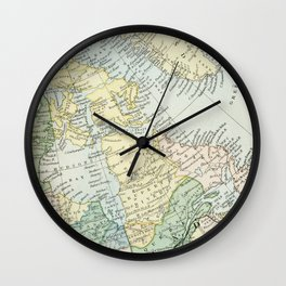 Vintage Map of The East Of Canada Wall Clock