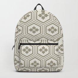 Japandi Style Pattern - Kikko (Tortoiseshell) - Dry Grass Backpack