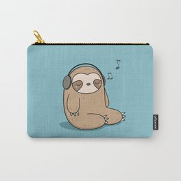 Kawaii Cute Sloth Listening To Music Carry-All Pouch
