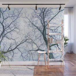 Abstract tree trunks Wall Mural