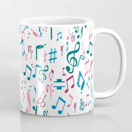Ruby Music Notes Coffee Mug