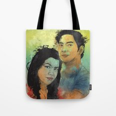 Gidget and Nino Tote Bag