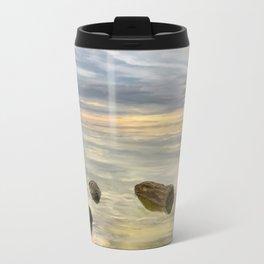 Sea sunset during calm weather Travel Mug