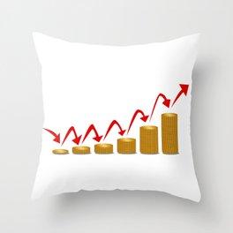 Rising Money Steps Throw Pillow