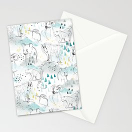 High in the Mountains Stationery Cards