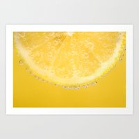 Yummy Lemon Art Print