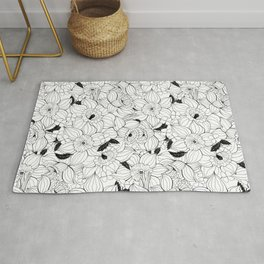Daffodils spring floral pattern Rug