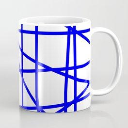 Doodle (Blue & White) Coffee Mug