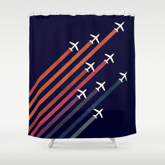 Aerial acrobat Shower Curtain