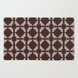 Mahogany Arts an Crafts Butterfly Rug