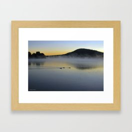 Serene Morning on Lake George Framed Art Print