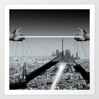 architect Art Prints featuring Architect by Mand'Ine Wonderland