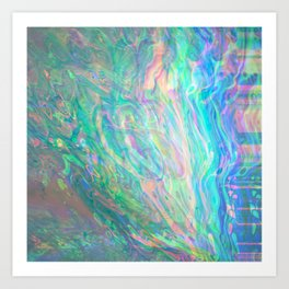 Holographic Rainbow Abstract Art Print