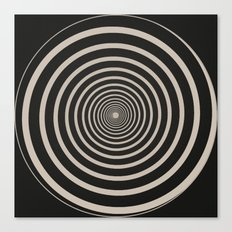 Spiral Clock Centre Canvas Print