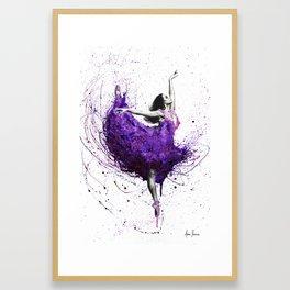 Purple Rains Ballet Framed Art Print