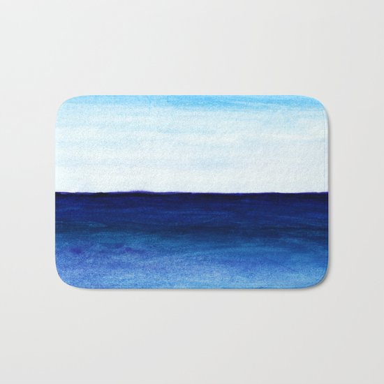Blue & blue Bath Mat