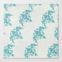 teal Canvas Prints featuring Teal by Juste Pixx Designs