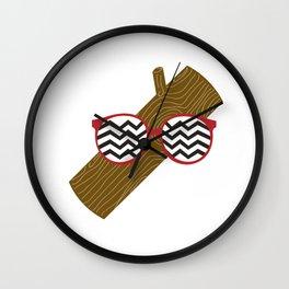 Twin Peaks Log Wall Clock