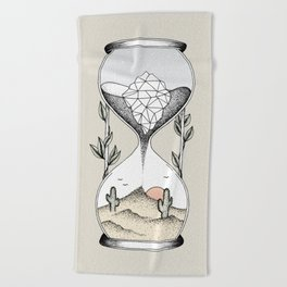 Time Is Running Out Beach Towel