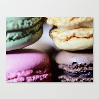 macaron Canvas Prints featuring Macaron by Alexis Clunet