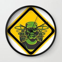 Caution Hazard Ahead - Frankenstein Wall Clock