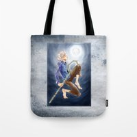 jack frost Tote Bags featuring Jack Frost by SpaceMonolith