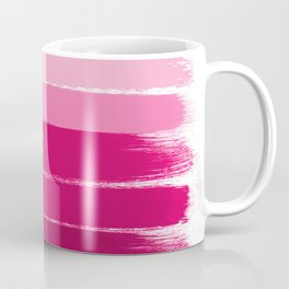 Mola - ombre painting bruskstrokes tonal gradient art pink pastel to hot pink decor Coffee Mug