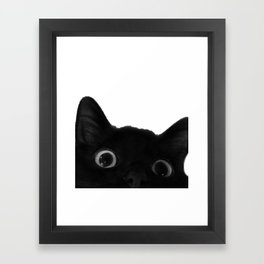 Here's lookin' at mew Framed Art Print