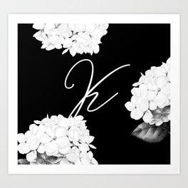 """Letter """"K"""" Monogram Kunstdrucke"""