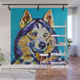 Pop Art Husky Wall Mural