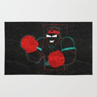 boxing Area & Throw Rugs featuring Boxing Gloves by subpatch