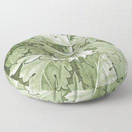 Celery Green Acanthus Plant Floor Pillow