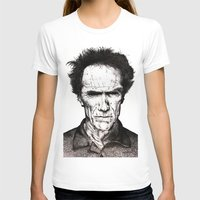 clint eastwood T-shirts featuring Clint Eastwood by Danielle Ross