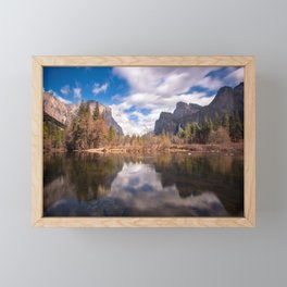 Clouds over Valley View, Yosemite, California Framed Mini Art Print