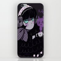 goth iPhone & iPod Skins featuring Goth Tea by Princess Misery