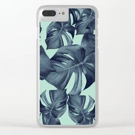Monstera Leaves Pattern #10 #tropical #decor #art #society6 Clear iPhone Case