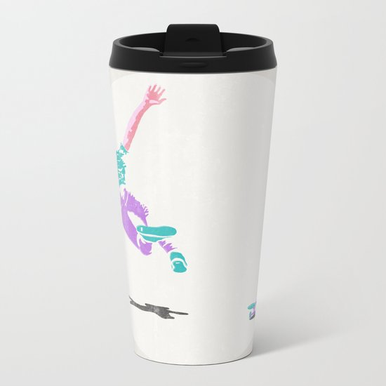 skateboarding 2 (lost time, risograph) Metal Travel Mug