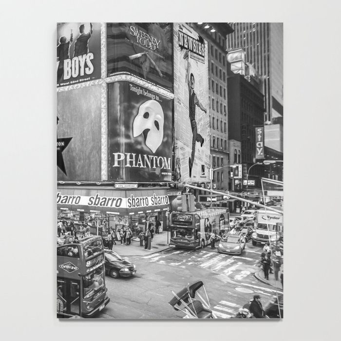 Times Square II (B&W widescreen) Notebook