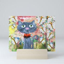 curious kitten Mini Art Print