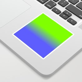 Neon Blue and Neon Green Ombré  Shade Color Fade Sticker