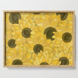 Kansas Sunflowers Serving Tray
