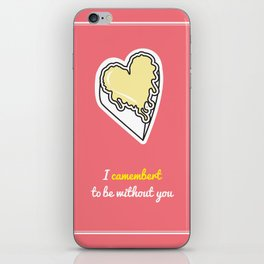 Cheesy Hearts - Camembert iPhone Skin
