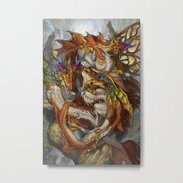 Zodiac Dragons Calendar Pisces Metal Print