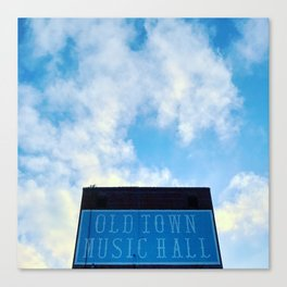 Old Town Music Hall Canvas Print