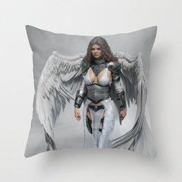 Angelic Warrior Throw Pillow