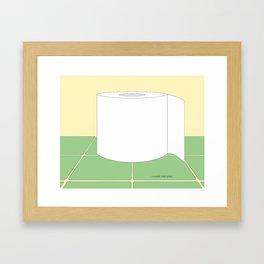 Reusable Toilet Paper Framed Art Print