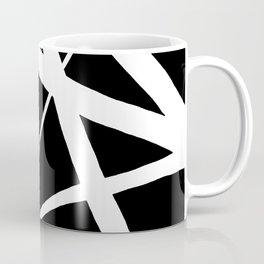 Geometric Line Abstract - Black White Coffee Mug