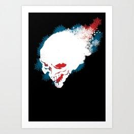 Winter skeleton print Art Print